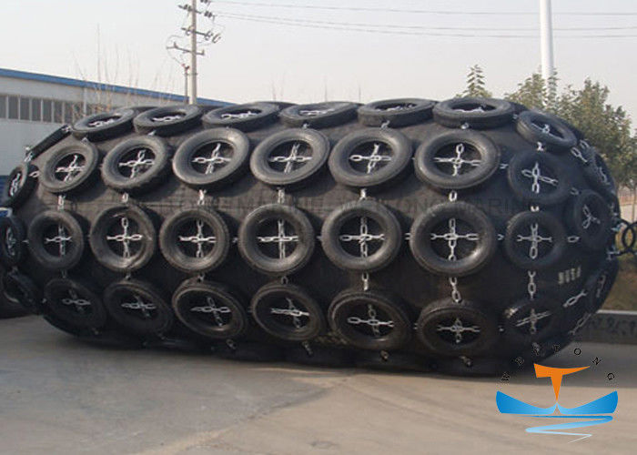 Marine Yokohama Type 0.08MPa Pneumatic Rubber Fender Galvanized Chain Tire