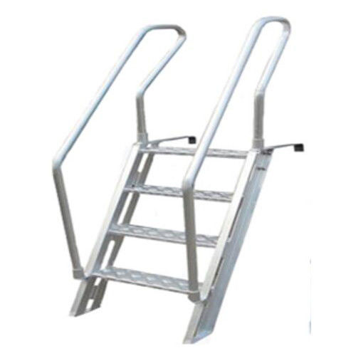 Easy Carring Aluminum Marine Boat Ladders For Stepping Over The Bulwark